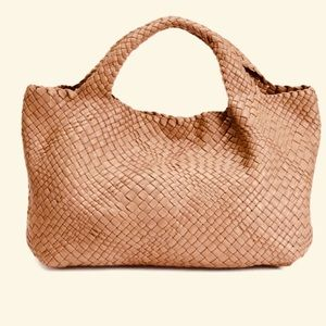 New Falor Firenze Woven Leather Tote Bag F349